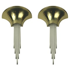 Oversized Pair of Midcentury Wall Sconces, Two Pair Available