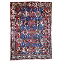 Oversized Persian Bakhtiari Good Condition Hand Knotted Rug