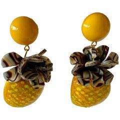 Oversized Pineapple Statement Earrings