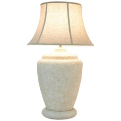 Oversized Postmodern Textured Ceramic Table Lamp, 1990s