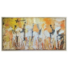 Oversized Purvis Young Painting From The Warriors Series