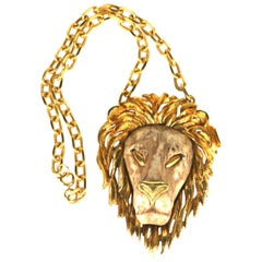 Oversized Razza Lion Head Necklace