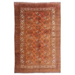 10 x 13 ft Oversized Rug Ersari Tribal Turkoman Hand Knotted Semi Antique Carpet
