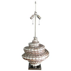 Oversized Snail Shell Ceramic Table Lamp