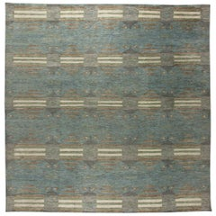 Contemporary Oversized Swedish Orebro Hand-knotted Wool Rug