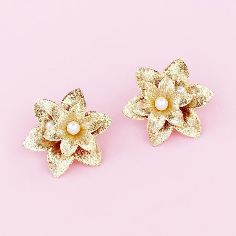- Vintage item  - Each earring measures 2