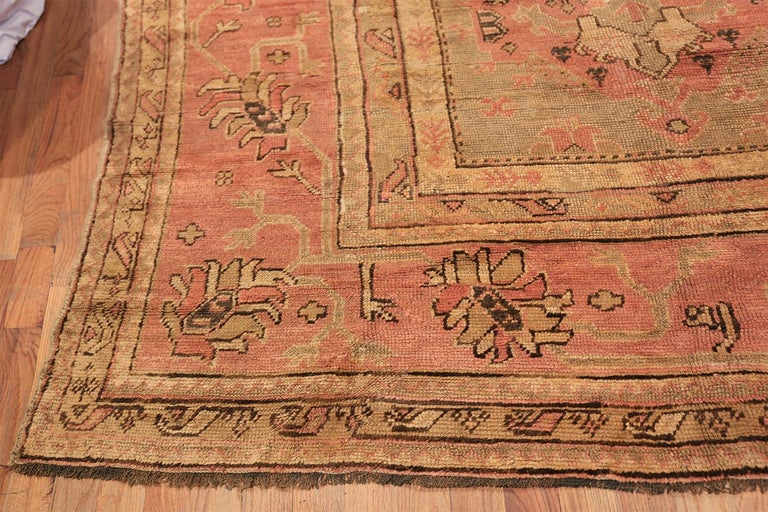 Oversized Tribal Antique Turkish Oushak Rug. Size: 16 ft 3 in x 24 ft 7 in  For Sale 5