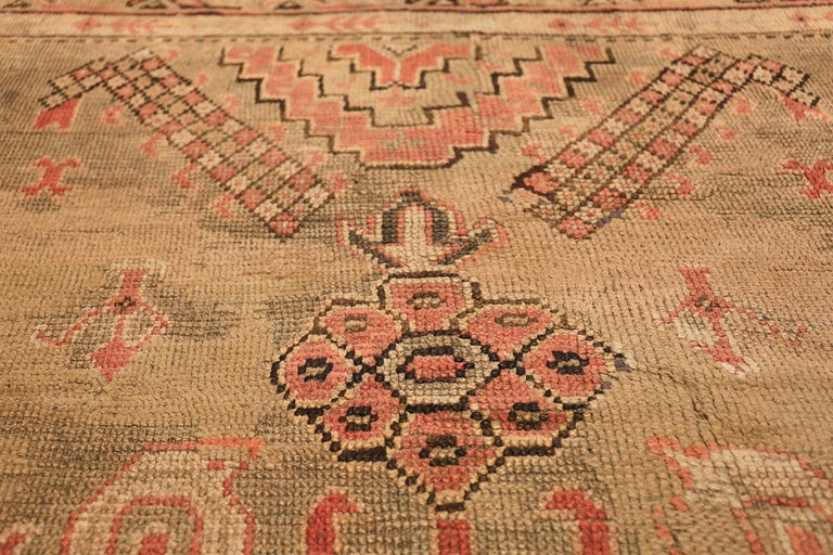 20th Century Oversized Tribal Antique Turkish Oushak Rug. Size: 16 ft 3 in x 24 ft 7 in  For Sale