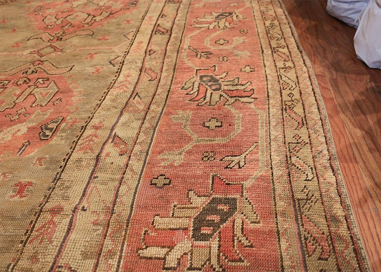 Wool Oversized Tribal Antique Turkish Oushak Rug. Size: 16 ft 3 in x 24 ft 7 in  For Sale