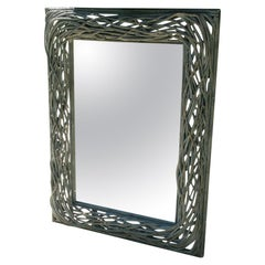 Oversized Twig Mirror with Beveled Glass