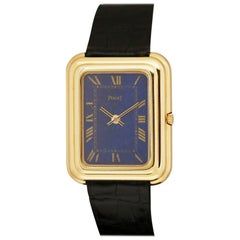 Oversized Vintage 18 Karat Yellow Gold Piaget Beta-21 Quartz Ref 141401