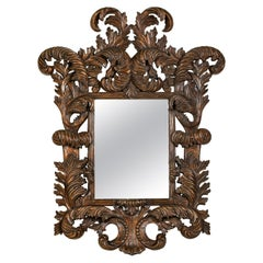 Oversized Wooden Carved Mirror