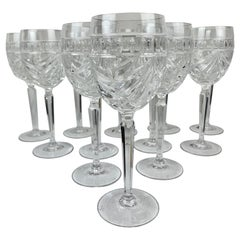 "Crystal Wines in the ""Overture"" Pattern by Waterford, 8.5"" H- Set of 12"