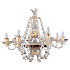 Overwhelming Murano Glass Chandelier by Barovier & Toso, 1960