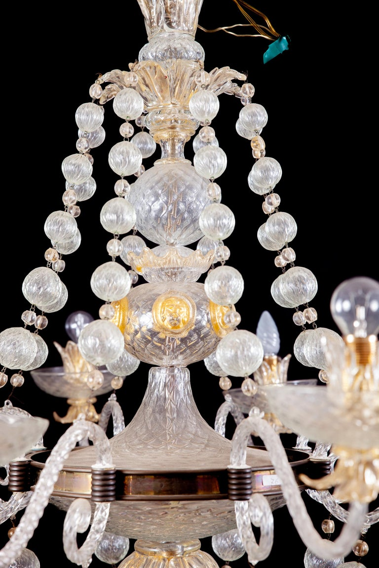 Overwhelming Murano Glass Chandelier by Barovier & Toso, 1960s For Sale 7