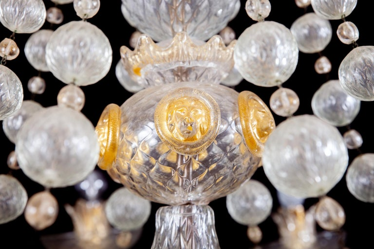 Overwhelming Murano Glass Chandelier by Barovier & Toso, 1960s For Sale 8