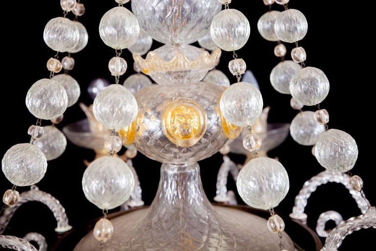 Overwhelming Murano Glass Chandelier by Barovier & Toso, 1960s For Sale 11