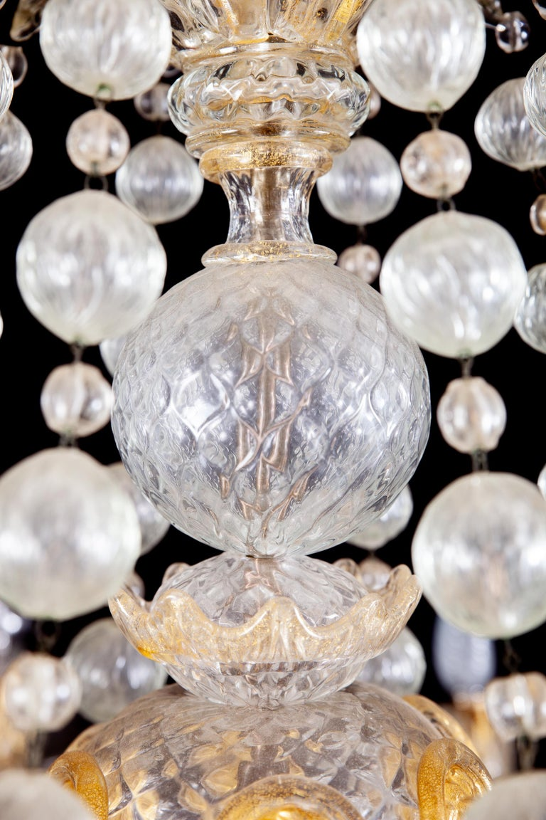 Overwhelming Murano Glass Chandelier by Barovier & Toso, 1960s For Sale 13