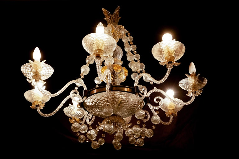 Overwhelming Murano Glass Chandelier by Barovier & Toso, 1960s For Sale 14