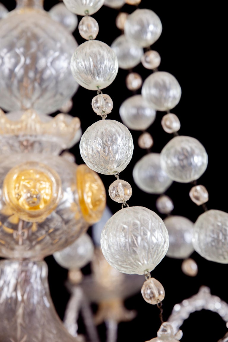 Overwhelming Murano Glass Chandelier by Barovier & Toso, 1960s In Excellent Condition For Sale In Rome, IT