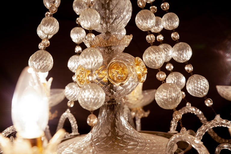 Mid-20th Century Overwhelming Murano Glass Chandelier by Barovier & Toso, 1960s For Sale