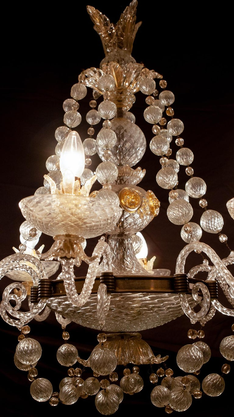 Overwhelming Murano Glass Chandelier by Barovier & Toso, 1960s For Sale 4