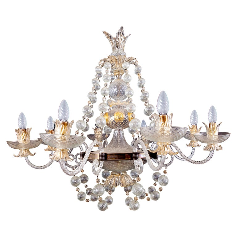 Overwhelming Murano Glass Chandelier by Barovier & Toso, 1960s For Sale