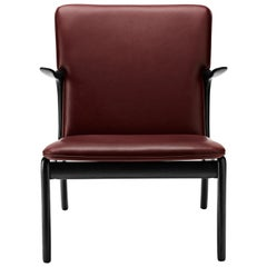 OW124 Beak Chair in Oak Painted Black by Ole Wanscher