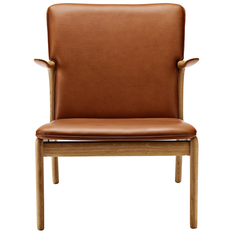 OW124 Beak Chair in Oiled Oak by Ole Wanscher