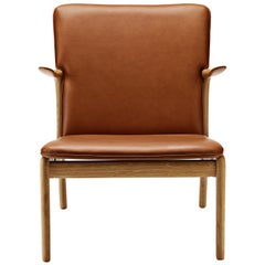 OW124 Beak Chair in Oiled Oak by Ole Wanscher