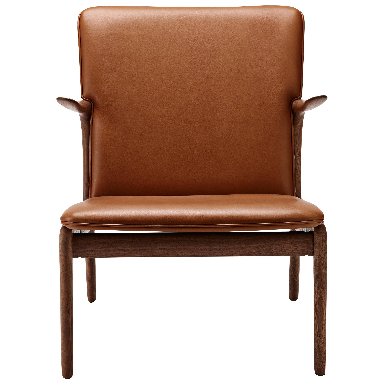 OW124 Beak Chair in Walnut Oil by Ole Wanscher