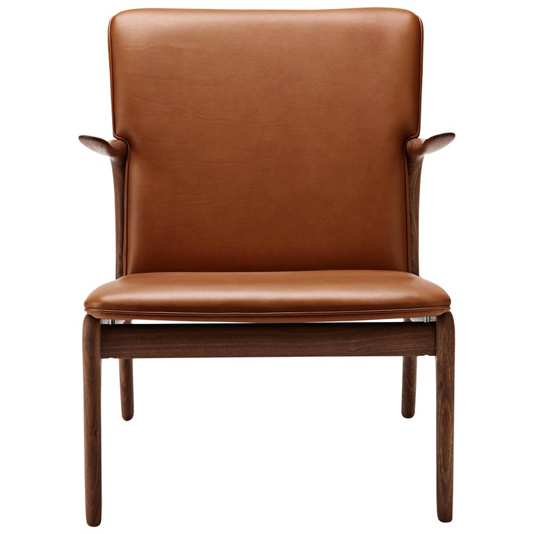 For Sale: Brown (Sif 95) OW124 Beak Chair in Walnut Oil by Ole Wanscher