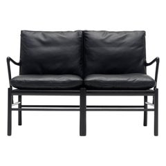 OW149-2 Colonial Sofa in Oak Painted Black by Ole Wanscher