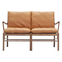 OW149-2 Colonial Sofa in Walnut Oil with Sif 95 Leather by Ole Wanscher