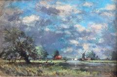 Owen Waters, Impressionist landscape, circle of Edward Seago