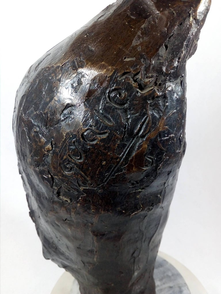 Mexican Owl Bronze Sculpture by Heriberto Júarez For Sale