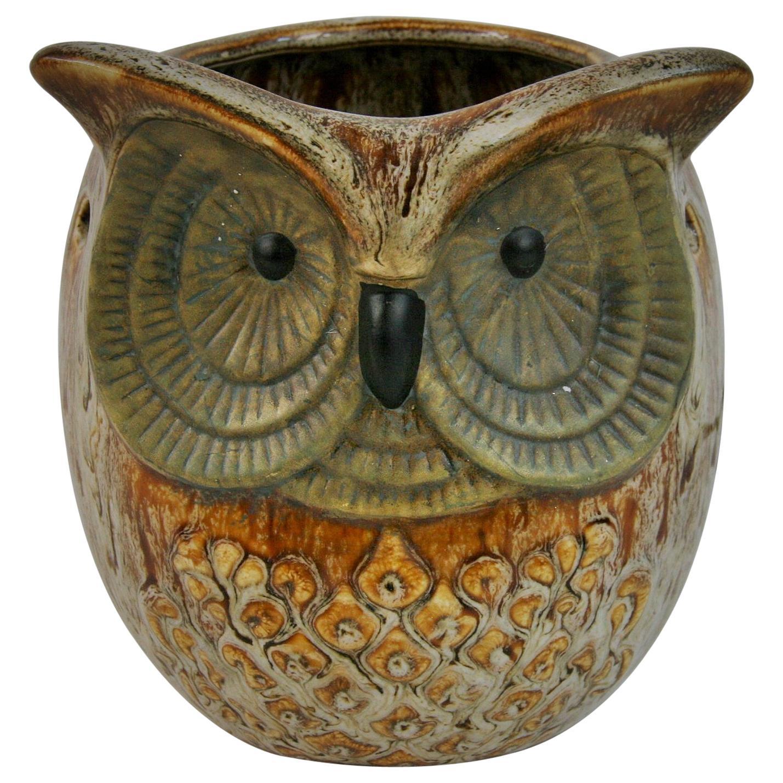 Owl Ceramic Night Light/Table Lamp