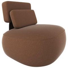 Owl Chair, Swivels, Fabric Caramel, in Stock