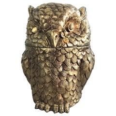 Owl ice bucket by Maura Manetti, 1960s