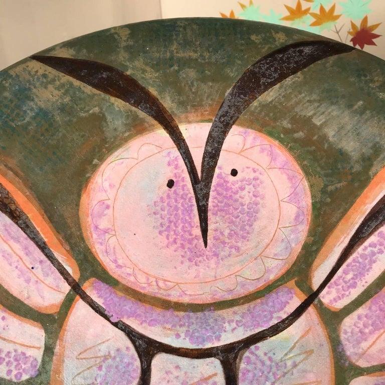 Hand-Crafted Owl Master Work Eva Fritz-Lindner For Sale