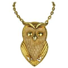Owl Pendant Vintage 1960s