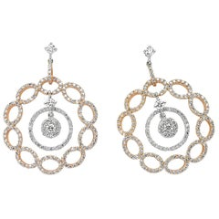 OWN Your Story 18 Karat Rose Gold Diamond Studded Dangling Layered Earrings