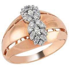 OWN Your Story 18 Karat Rose Gold Marquise Diamond Symmetric Flower Ring