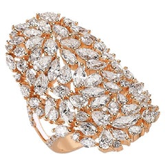 OWN Your Story 18K Rose Gold Pear, Marquise and Brilliant Diamond Statement Ring