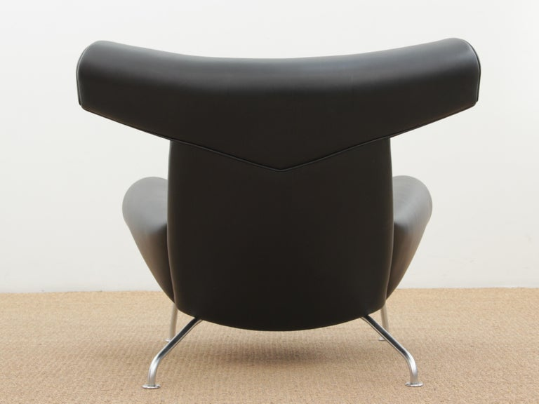 Scandinavian Ox Lounge Chair, Vintage Edition 2006, Black Leather For Sale