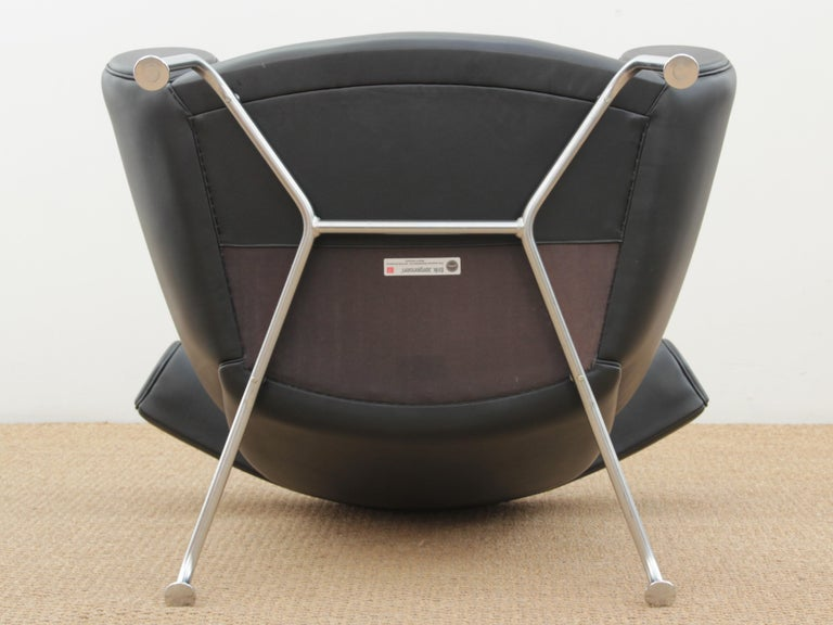 Ox Lounge Chair, Vintage Edition 2006, Black Leather In Good Condition For Sale In Courbevoie, FR