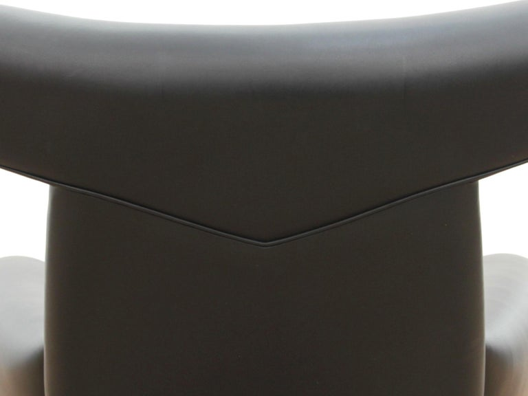 Mid-20th Century Ox Lounge Chair, Vintage Edition 2006, Black Leather For Sale