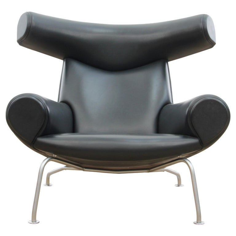 Ox Lounge Chair, Vintage Edition 2006, Black Leather For Sale