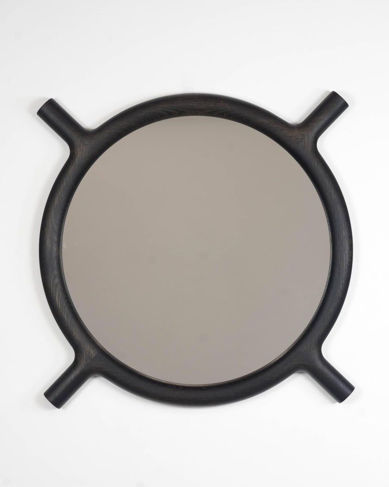 Ox Round Wall Mirror In New Condition For Sale In San Francisco, CA