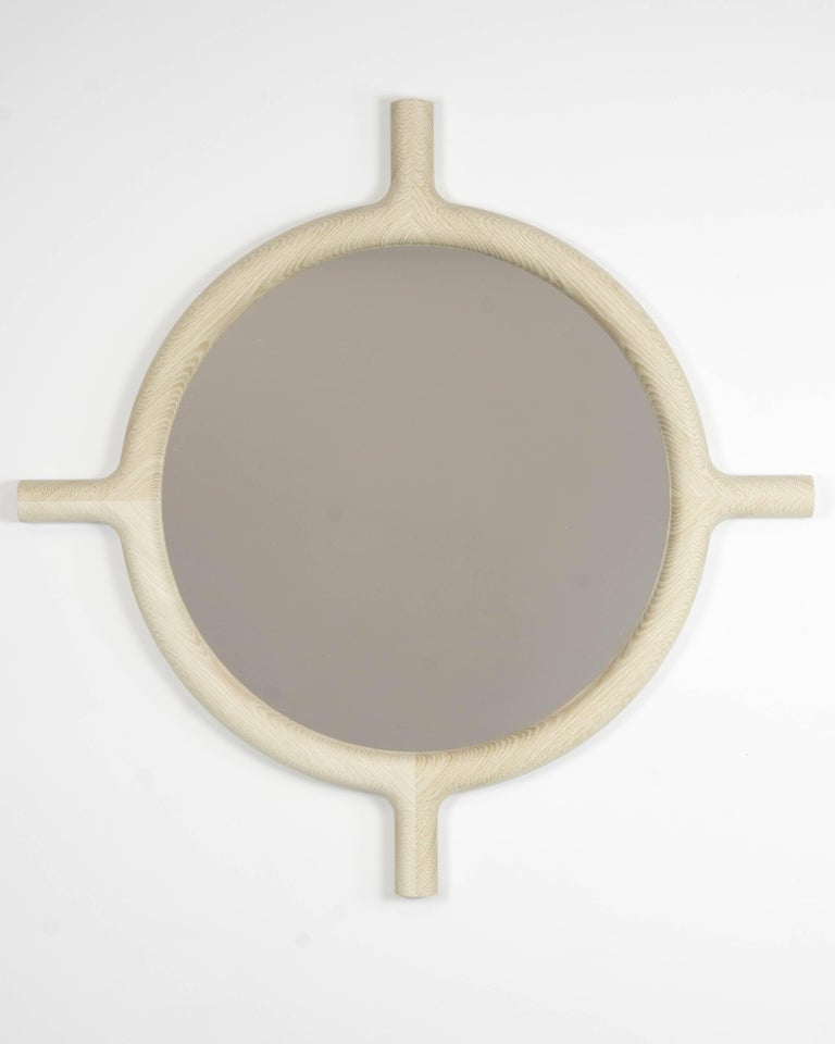 Contemporary Ox Round Wall Mirror For Sale